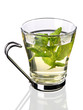 Herbal mint tea (clipping path)