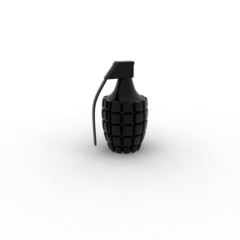 Black Shiny Grenade