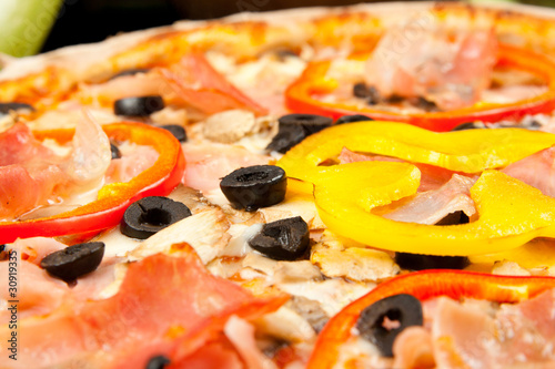Tasty pizza, close-up