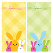 Easter web banners with copy space