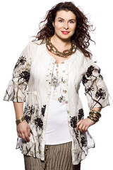 large build caucasian woman spring summer fashion