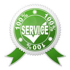 Sello SERVICE 100%