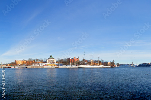 View of the beautiful architecture of Stockholm, Sweden.