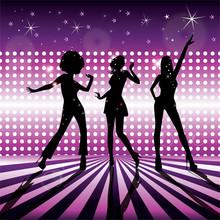 Wektor dziewczyny disco