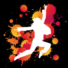 silhouette femme saute