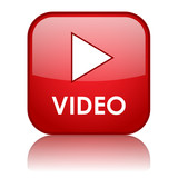 Fototapety VIDEO Web Button (play watch view media player icon news live)