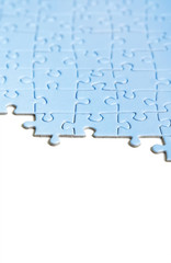 blue puzzle texture, isolated