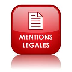 """Bouton Web """"MENTIONS LEGALES"""" (conditions générales juridique)"""