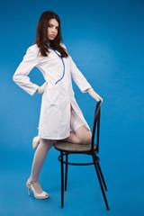 Portrait of the pretty nurse