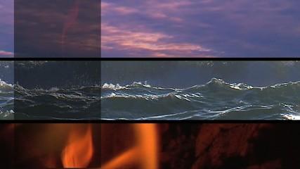 Tre elementi orizzontali - aria, acqua, fuoco