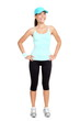 Fitness woman isolated