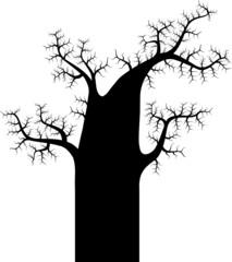 Абстрактный силуэт дерева - дуб