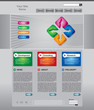 Business web page template set