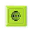 Leinwandbild Motiv Power outlet - green
