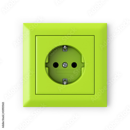 Power outlet - green