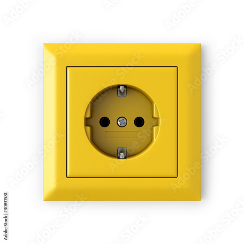 Power outlet - yellow - 30931581