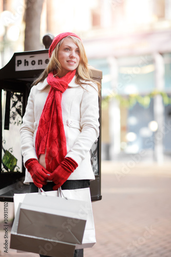 Caucasian woman shopping