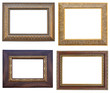 Collection picture frames with a decorative pattern