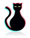 Gato difuso poster