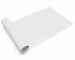 scroll of paper isolated