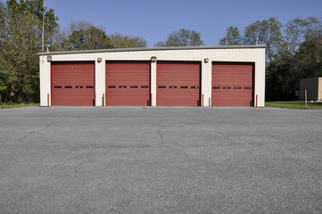 rural firehouse garage