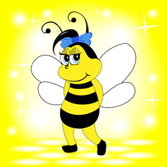 Smiling bee, vector illustration, eps 10