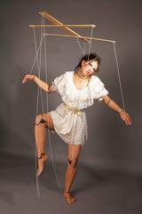 Marionettenspielerin Theater