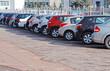 Leinwanddruck Bild - A row of parcked cars