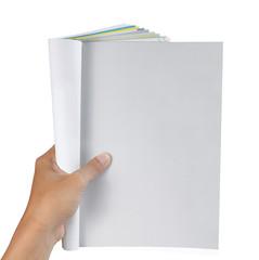 hand holding magazine