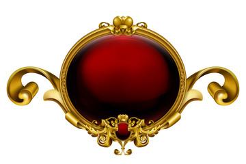 Vintage frame red