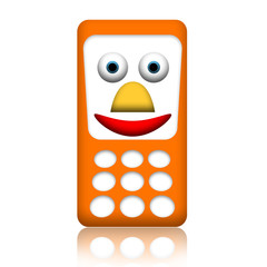 Friendly smiling mobile phone