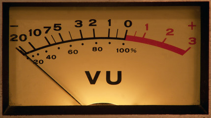 VU Meter illuminated