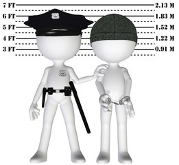 Police arrest criminal cop perp crime justice mugshot