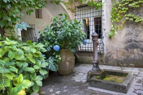 Courtyard at Villa Ruffalo in Ravello Italy