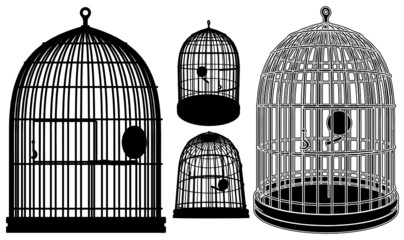 Bird Cage Vector 02