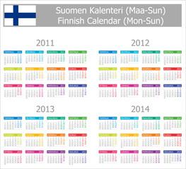 2011-2014 Type-1 Finnish Calendar Mon-Sun