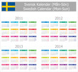 2011-2014 Type-1 Swedish Calendar Mon-Sun