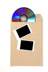 Brown Envelope document with cd-rom and Frame