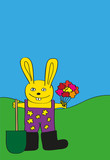 Easter Bunny - Childlike drawing poster