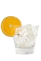 Empty lowball glass