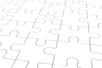 perspective view of a white puzzle