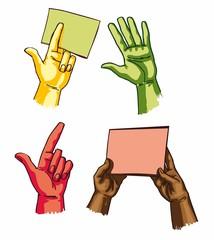 руки и ладони - векторный набор