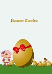 gold egg background