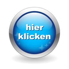 """""""HIER KLICKEN"""" Knopf (web internet button clicken sie taste)"""