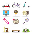 sports equipment and objects icons - vector icon set2