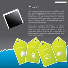 Cool looking website template design