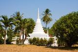 White buddhist stupa in island Koh Mak , Thailand