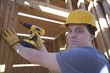 Labourer works on building construction