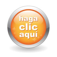 """Botón Web """"HAGA CLIC AQUI"""" (conexión ratón click here ok button)"""