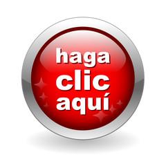 """Botón Web """"HAGA CLIC AQUI"""" (click here button conexión ok ratón)"""